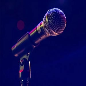 a microphone triggers stage fright